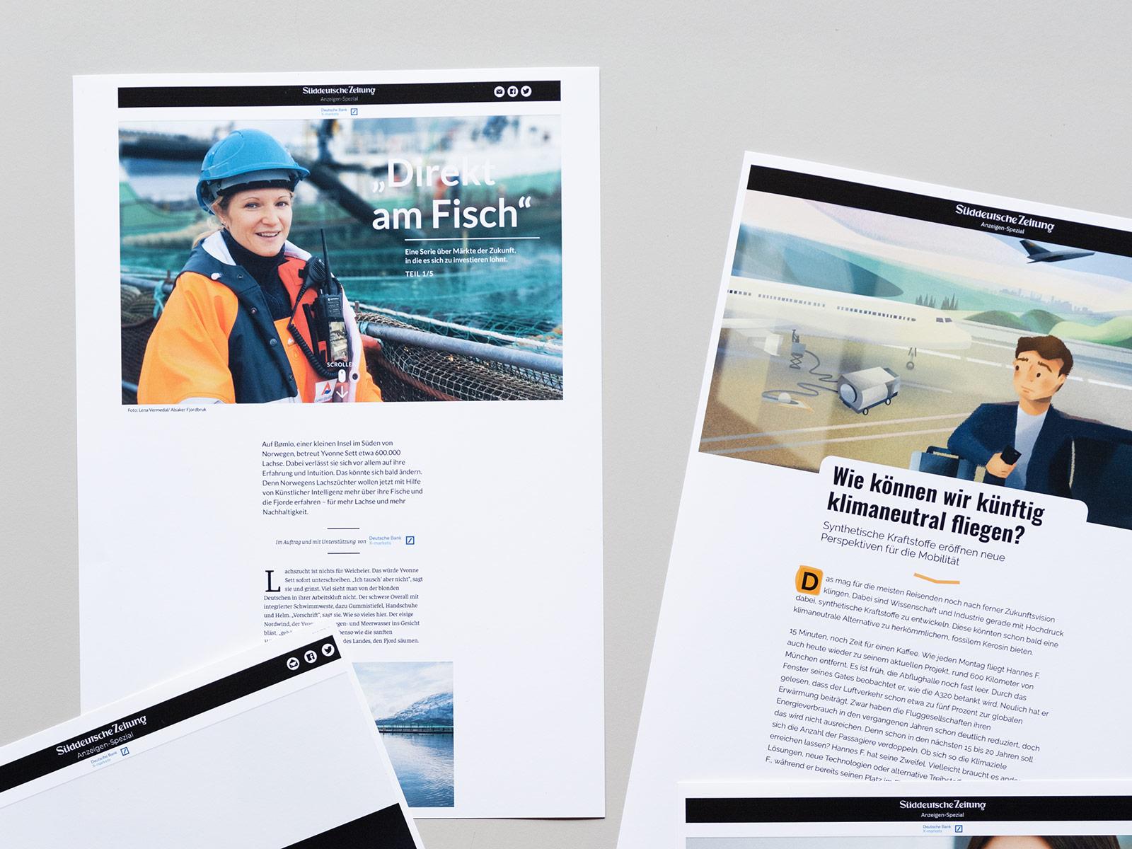 SZ Brandstudio - Projekt Andrea Peus - Journalistin